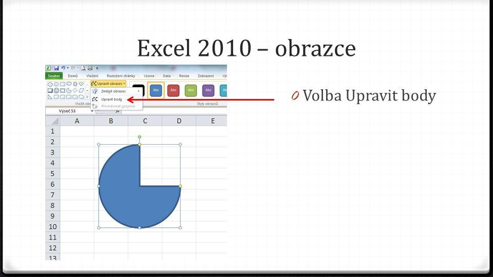 Excel 2010 – obrazce 0 Volba Upravit body