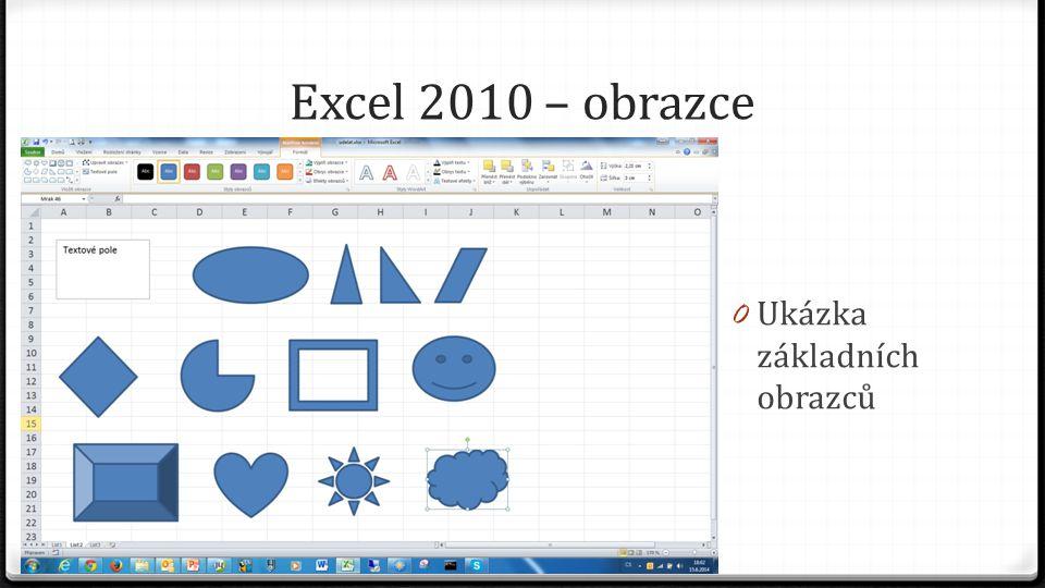 Excel 2010 – obrazce 0 Ukázka základních obrazců