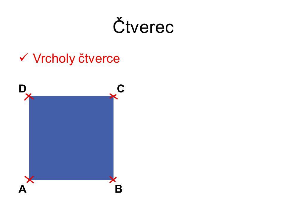 Vrcholy čtverce AB CD ÚKOLY: Co tvoří vrcholy čtverce.