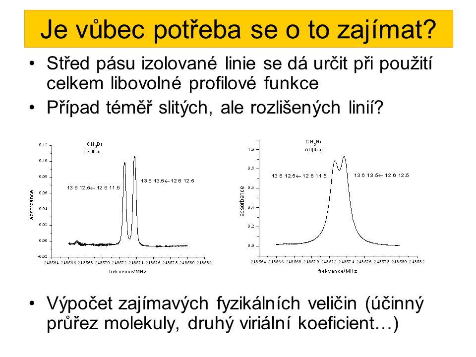 Jaký tvar nejlépe odpovídá našim spektrálním pásům.
