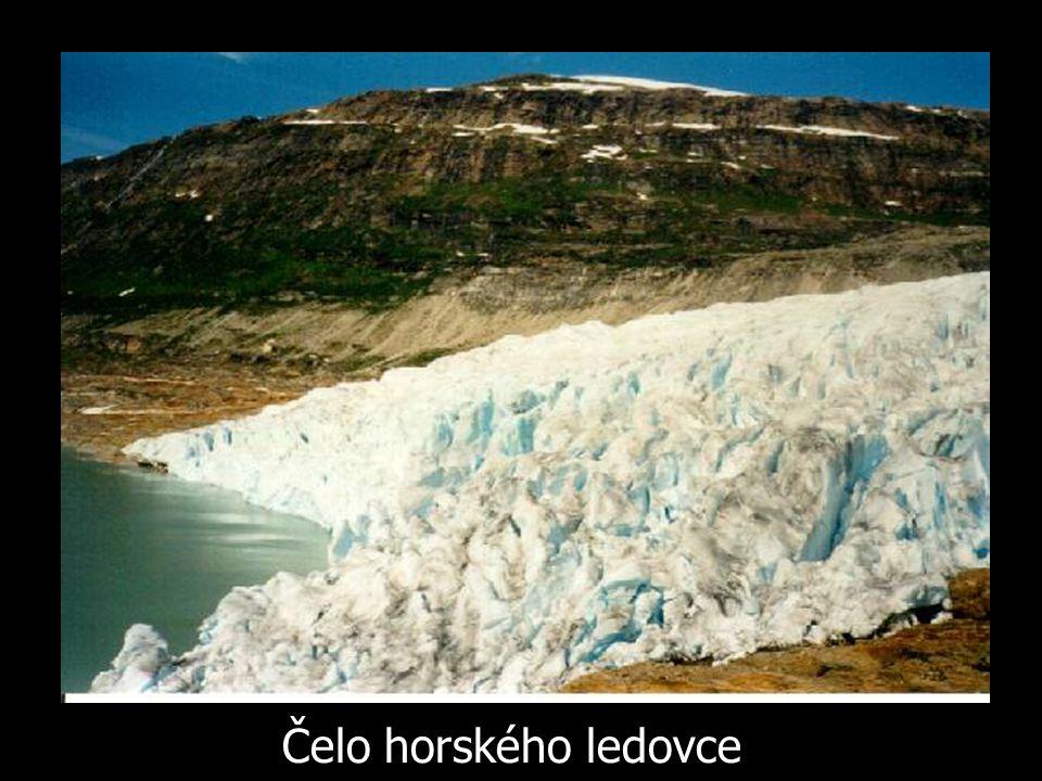 Čelo horského ledovce