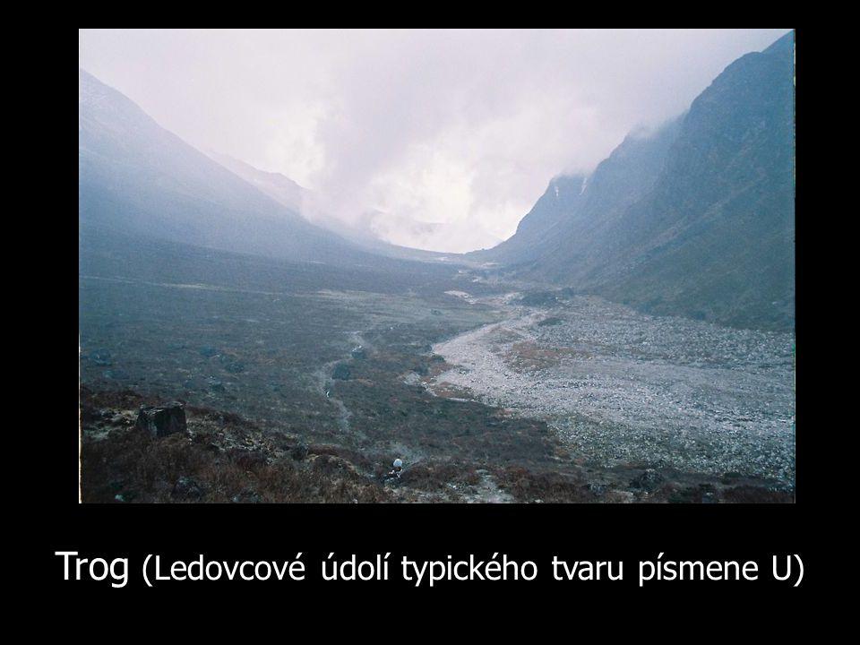 Trog (Ledovcové údolí typického tvaru písmene U)
