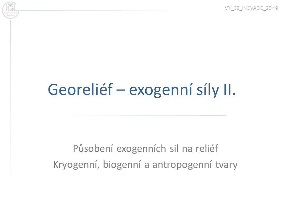 Georeliéf – exogenní síly II.