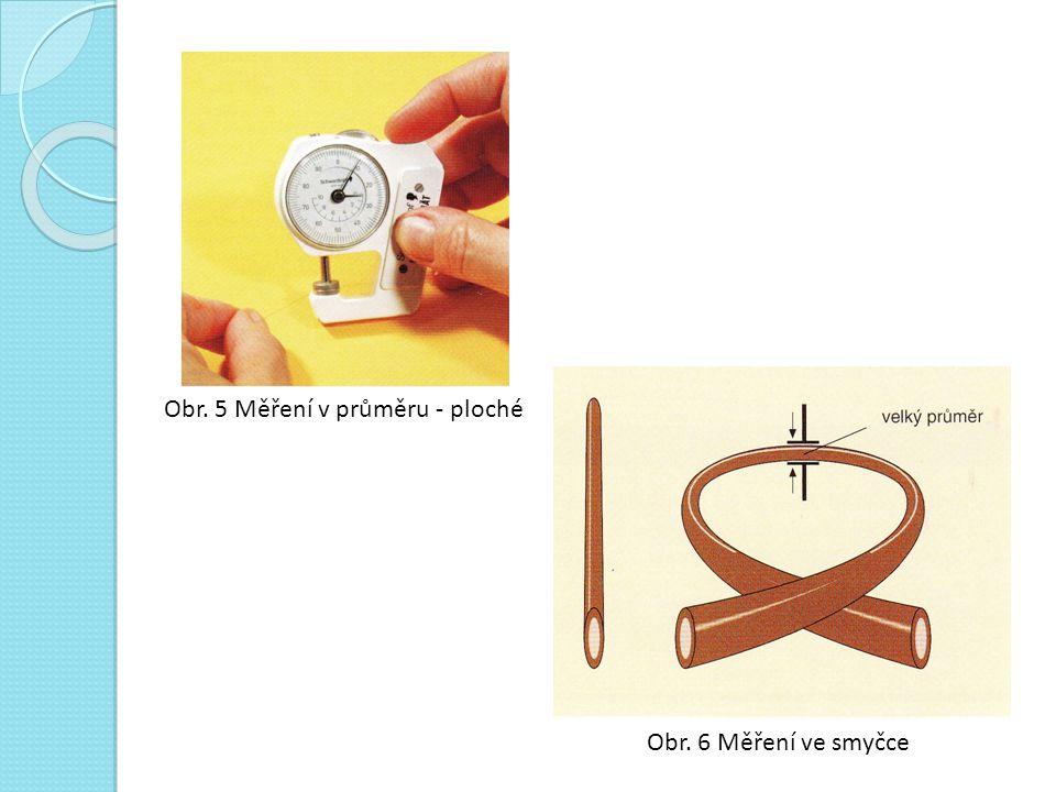Obr. 5 Měření v průměru - ploché Obr. 6 Měření ve smyčce
