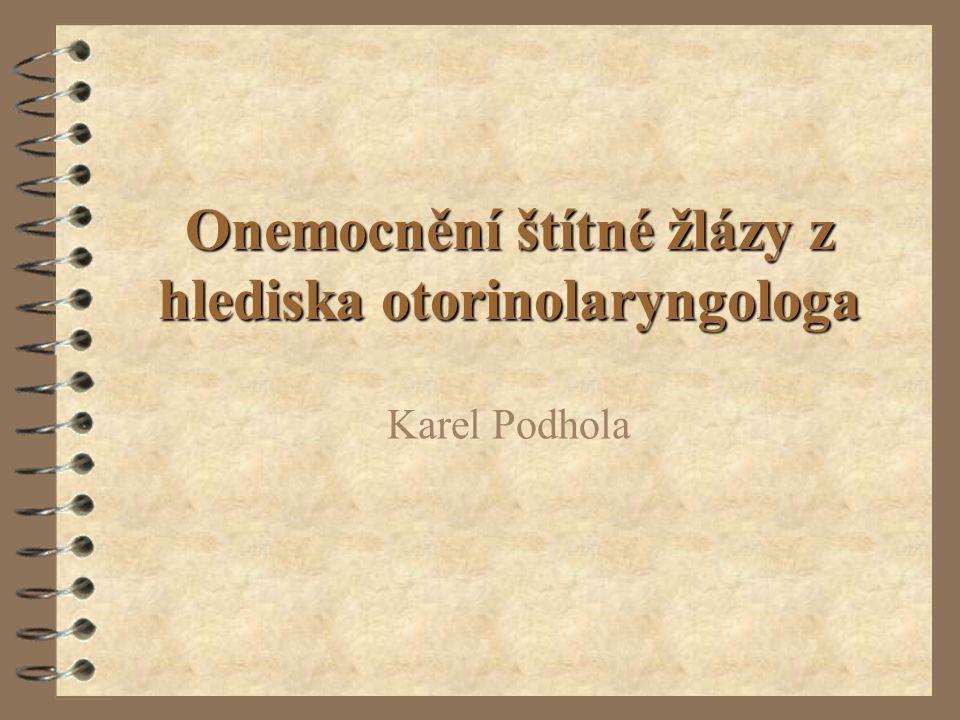 Onemocnění štítné žlázy z hlediska otorinolaryngologa Karel Podhola