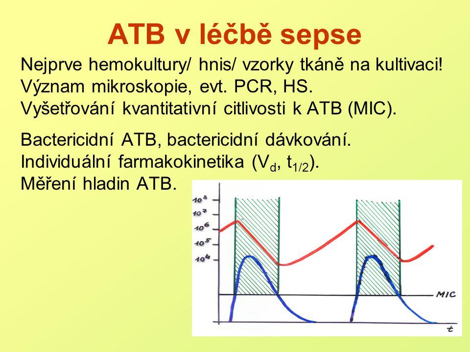Nejčastější zdroje sepse plíce břicho (tlusté střevo) močový trakt měkké tkáně, rány i.v.