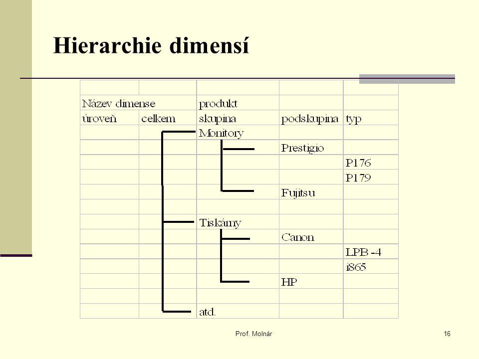 Hierarchie dimensí Prof. Molnár16