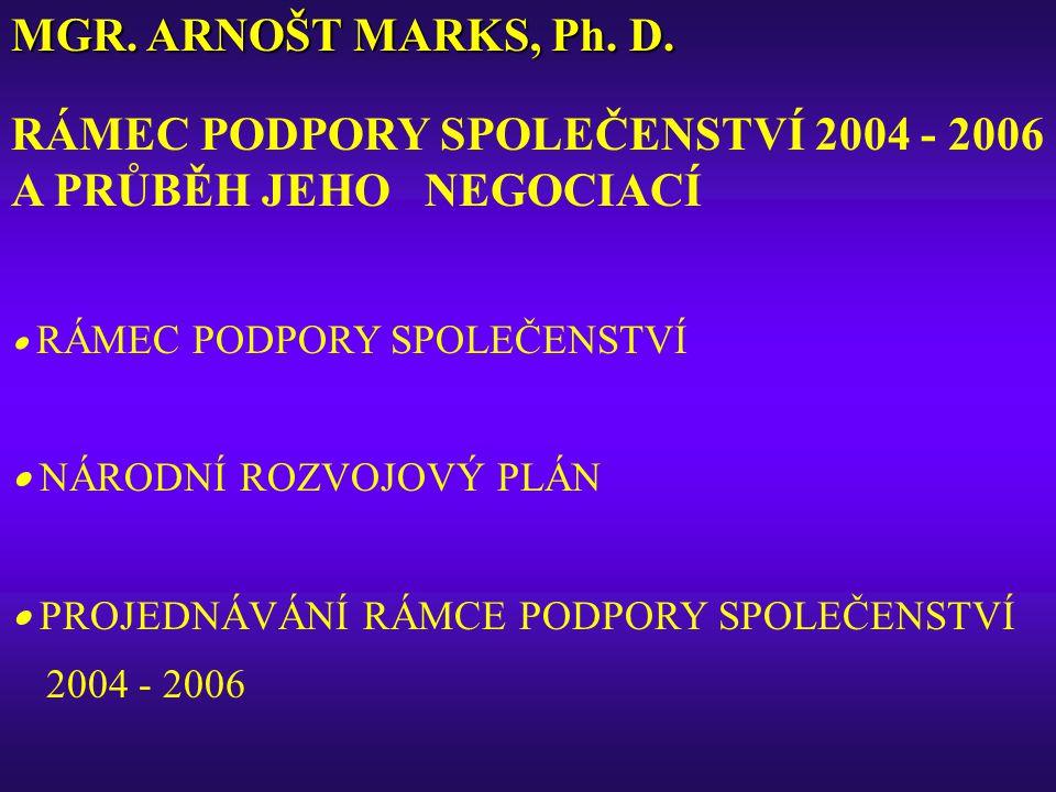 MGR. ARNOŠT MARKS, Ph. D.