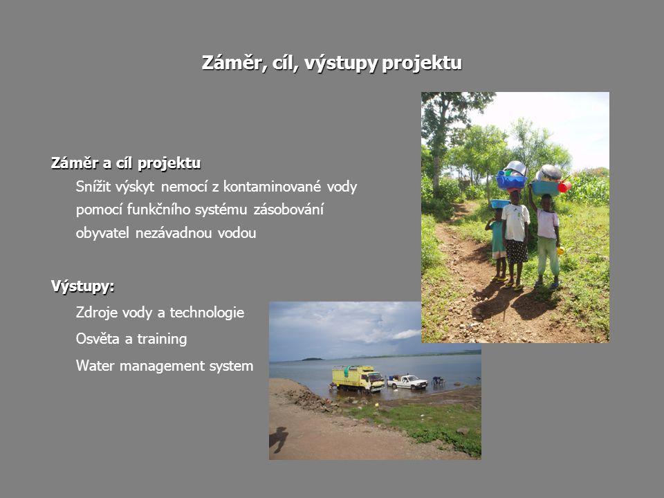 Záměr, cíl, výstupy projektu Záměr a cíl projektu Snížit výskyt nemocí z kontaminované vody pomocí funkčního systému zásobování obyvatel nezávadnou vo