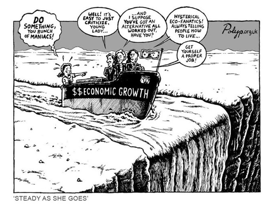 """(Udržitelný) nerůst  Vznik ve Francii (Décroissance/Degrowth)  """"Sociálně spravedlivé postupné snižování produkce a spotřeby, které zvyšuje lidskou spokojenost a zlepšuje ekologické podmínky na lokální i globální úrovni, v krátkodobém i dlouhodobém horizontu Schneider, Kallis, Martinez-Alier  """"Cílem nerůstu je vytvoření společnosti, ve které se bude lépe žít a současně se bude méně pracovat a spotřebovávat. Serge Latouche"""