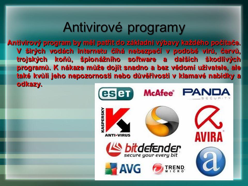 Antivirový program by měl patřit do základní výbavy každého počítače. V širých vodách internetu číhá nebezpečí v podobě virů, červů, trojských koňů, š