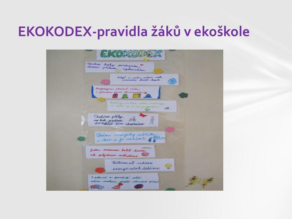 EKOKODEX-pravidla žáků v ekoškole