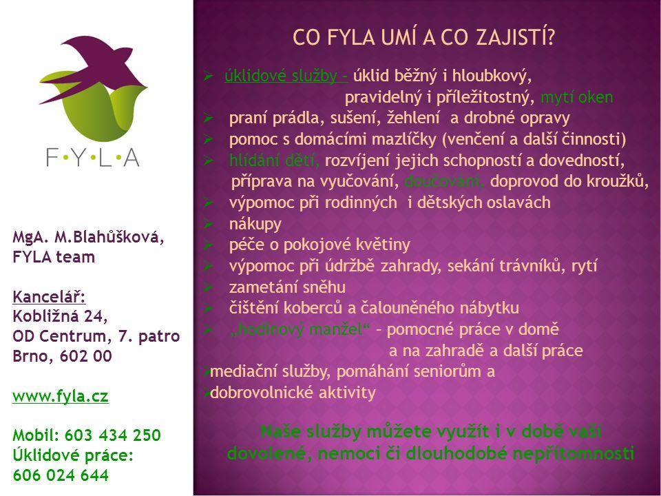 Proč využít FYLA služby.