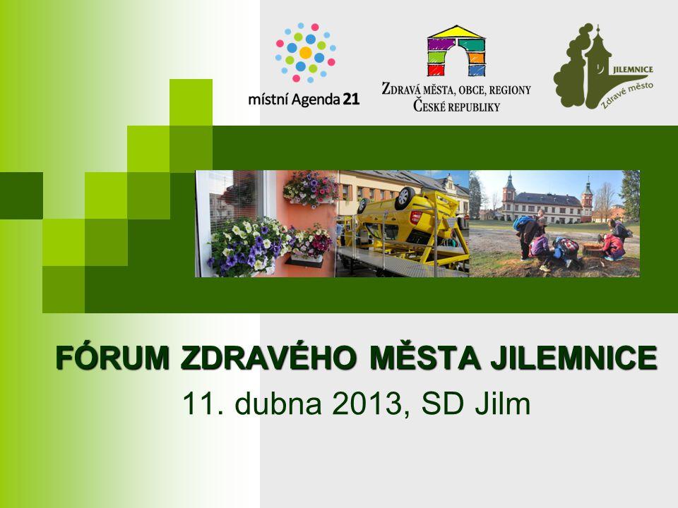 FÓRUM ZDRAVÉHO MĚSTA JILEMNICE 11. dubna 2013, SD Jilm