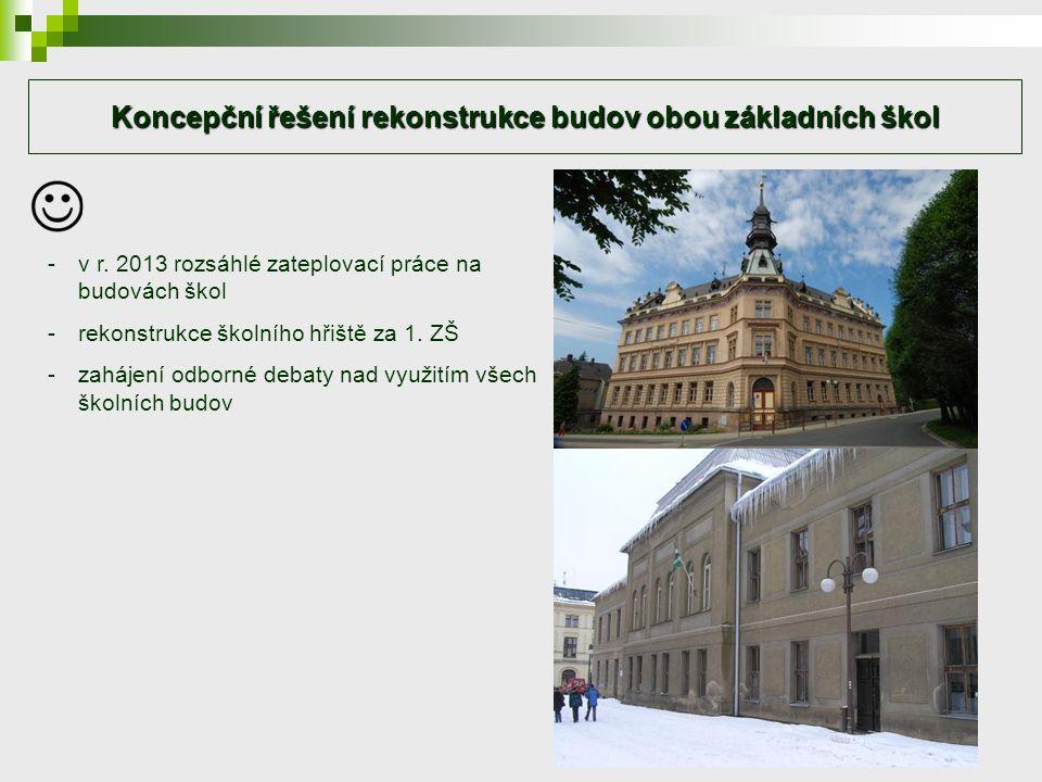 Koncepční řešení rekonstrukce budov obou základních škol -v r.