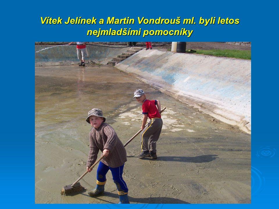 Vítek Jelínek a Martin Vondrouš ml. byli letos nejmladšími pomocníky  Vít