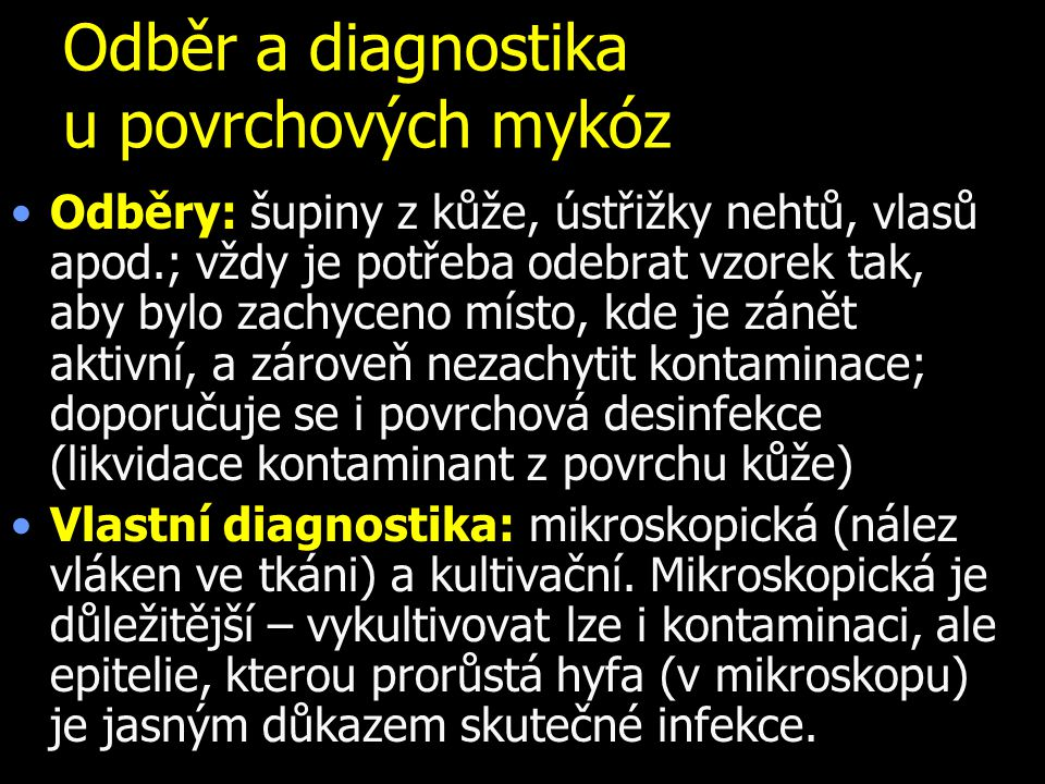 Diagnostika mykóz