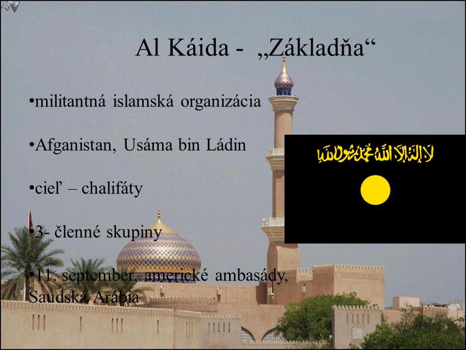 militantná islamská organizácia Afganistan, Usáma bin Ládin cieľ – chalifáty 3- členné skupiny 11.