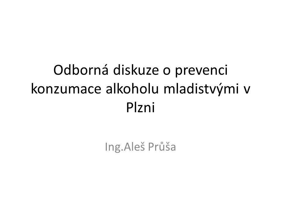 Odborná diskuze o prevenci konzumace alkoholu mladistvými v Plzni Ing.Aleš Průša