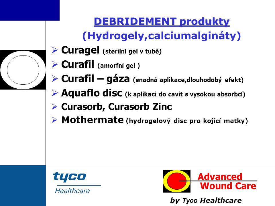 DEBRIDEMENT produkty (Hydrogely,calciumalgináty)  Curagel (sterilní gel v tubě)  Curafil (amorfní gel )  Curafil – gáza (snadná aplikace,dlouhodobý
