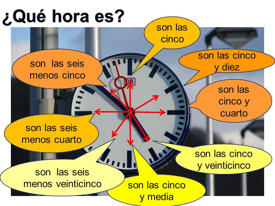 Ordena las frases: Kolik je hodin.V kolik hodin. Od kolika hodin.
