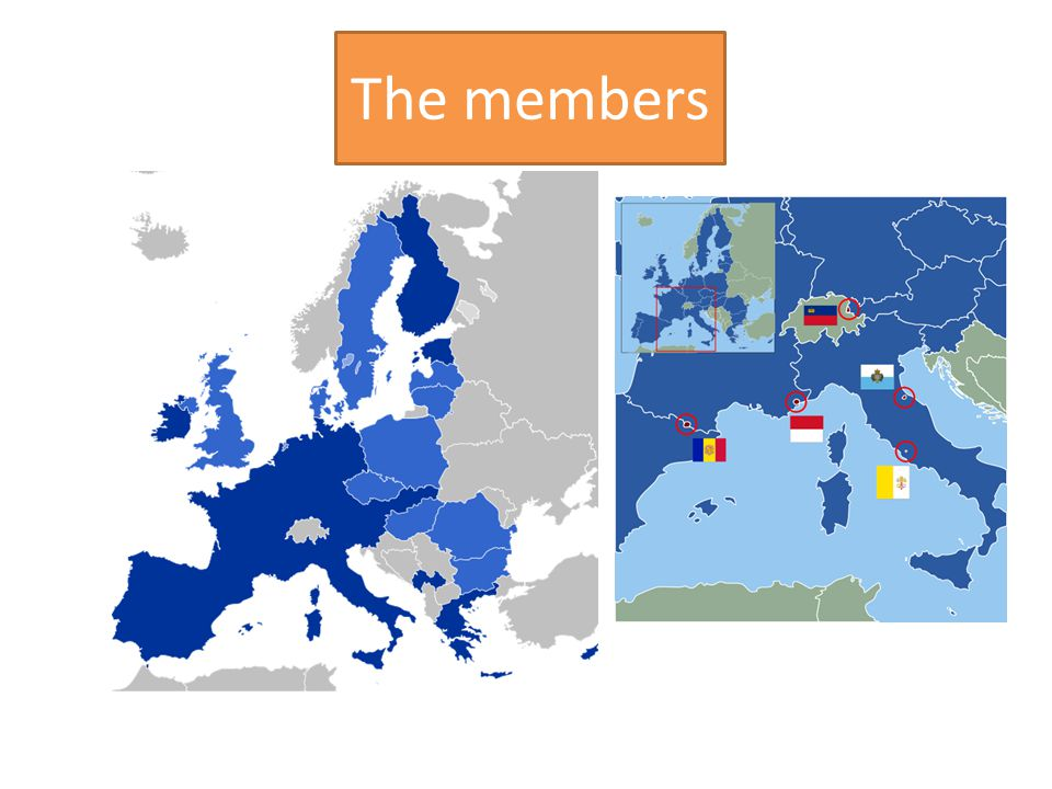 History  9th May 1950 – the idea of united Europe (Day of Europe)  European Economic Comunity 1957 (6 states: Belgium, Germany, France, Italy, Luxembourg, Netherlands)  1993 European Union  2012 – 27 members (23 official languages)