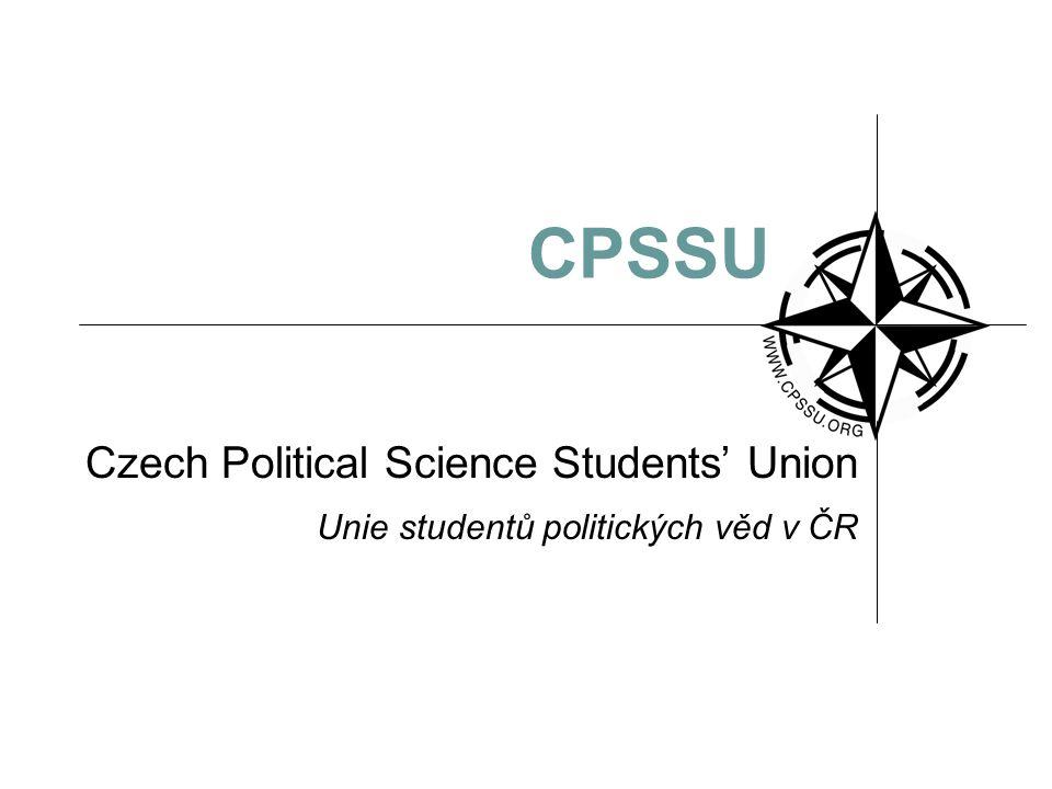 CPSSU Czech Political Science Students' Union Unie studentů politických věd v ČR