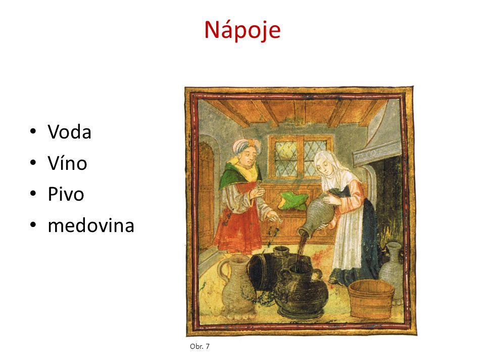 Nápoje Voda Víno Pivo medovina Obr. 7