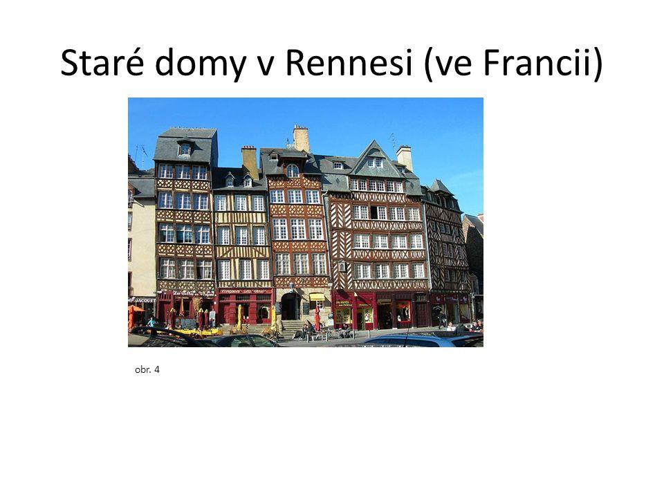 Staré domy v Rennesi (ve Francii) obr. 4