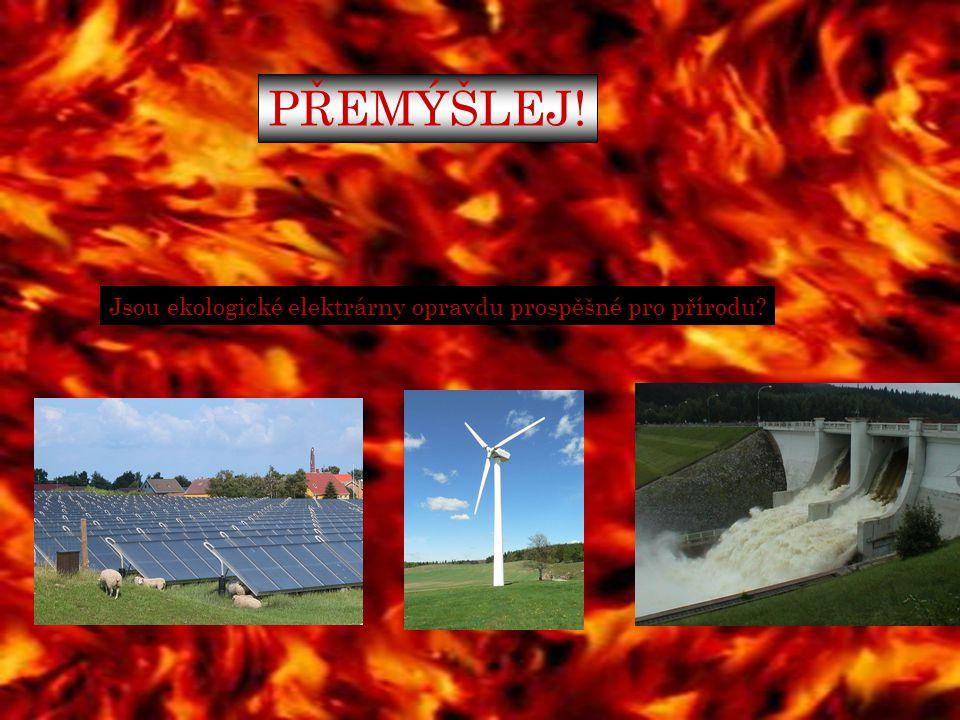 PŘEMÝŠLEJ! Jsou ekologické elektrárny opravdu prospěšné pro přírodu?