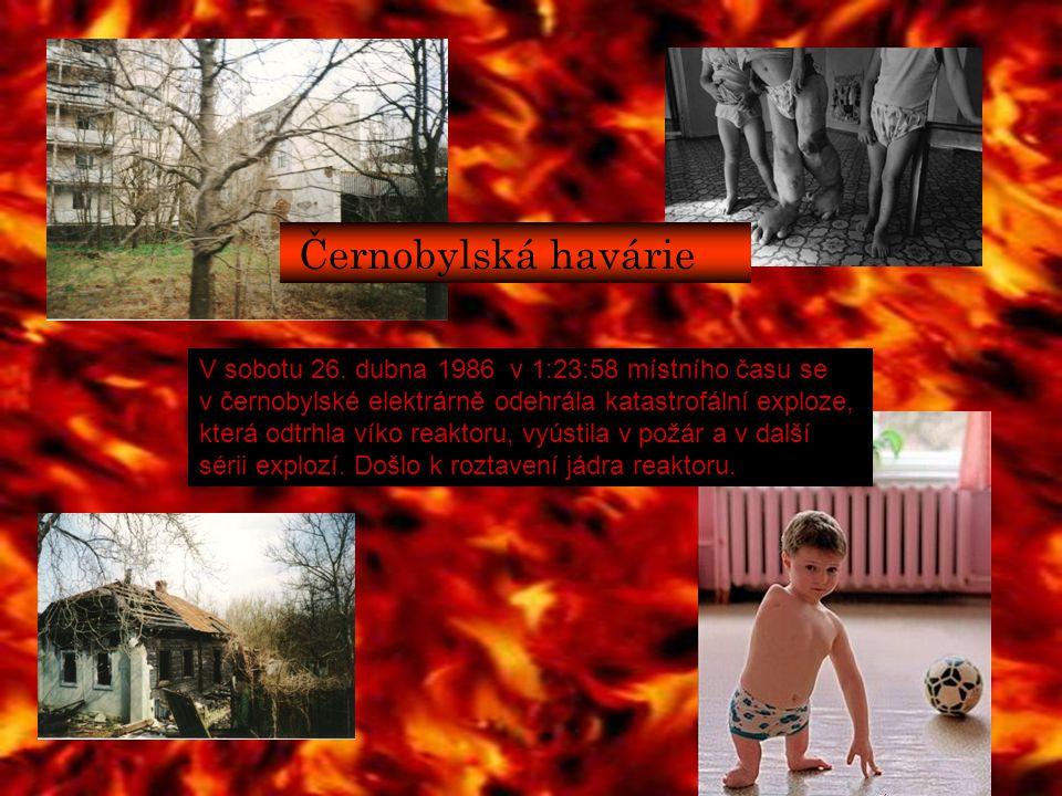 V sobotu 26. dubna 1986 v 1:23:58 místního času se v černobylské elektrárně odehrála katastrofální exploze, která odtrhla víko reaktoru, vyústila v po