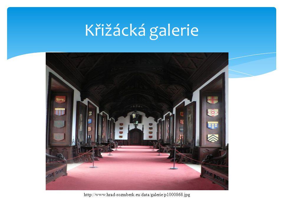 Křižácká galerie http://www.hrad-rozmberk.eu/data/galerie/p1000868.jpg