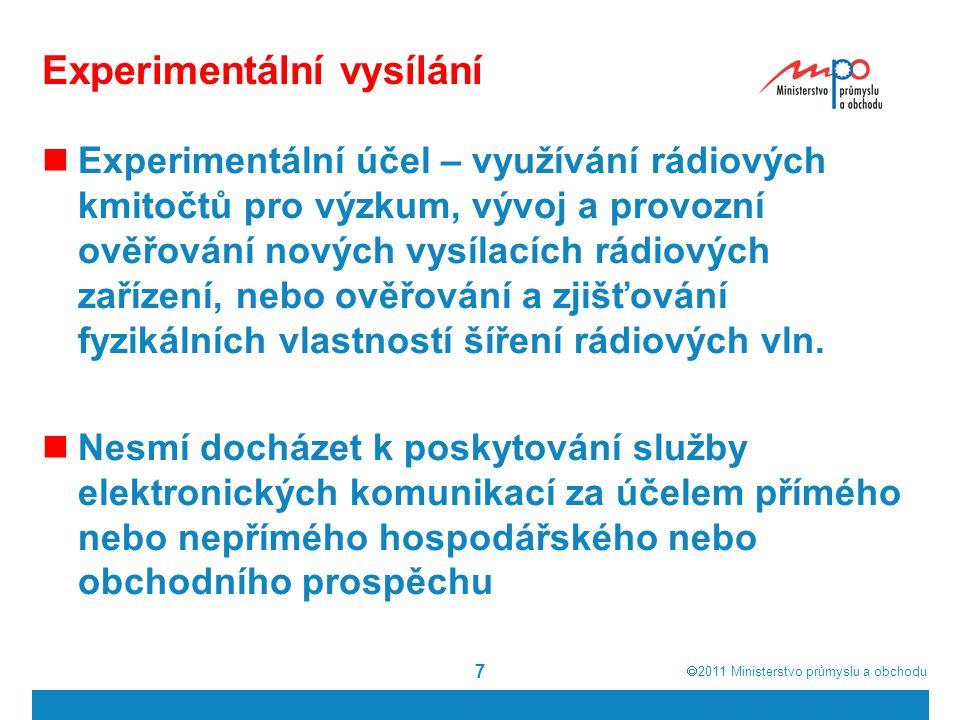  2011  Ministerstvo průmyslu a obchodu Studie EIB 2 18