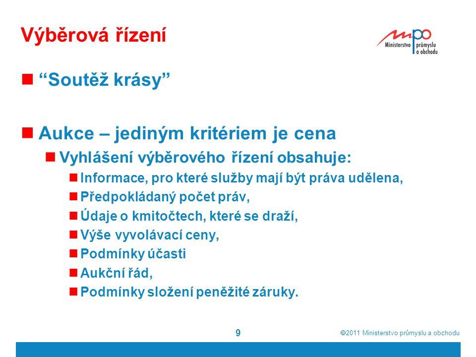  2011  Ministerstvo průmyslu a obchodu ČR 2010 20