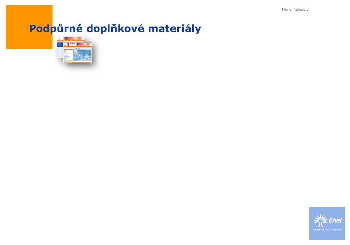 Uso: Aziendale Podpůrné doplňkové materiály