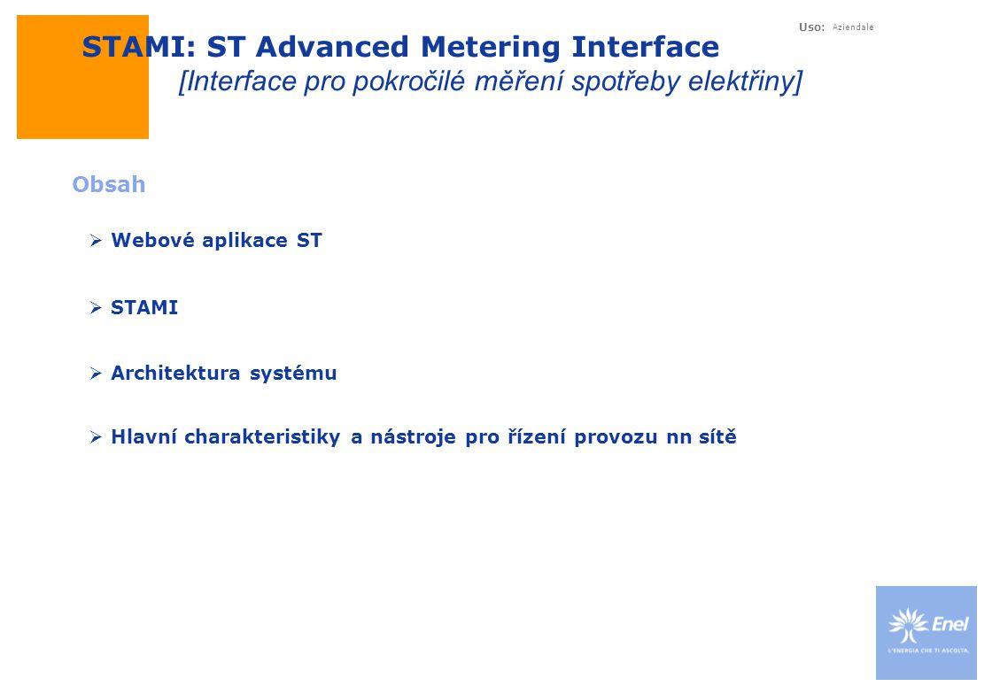 Uso: Aziendale Webové aplikace ST Systém pro dálkové řízení a automatizaci – Webové aplikace ST SíťSystém měření spotřeby STUX/STM ST Systém pro dálkové řízení a automatizaci Webové aplikace ST Jiné firemní aplikace [softwarové vybavení]