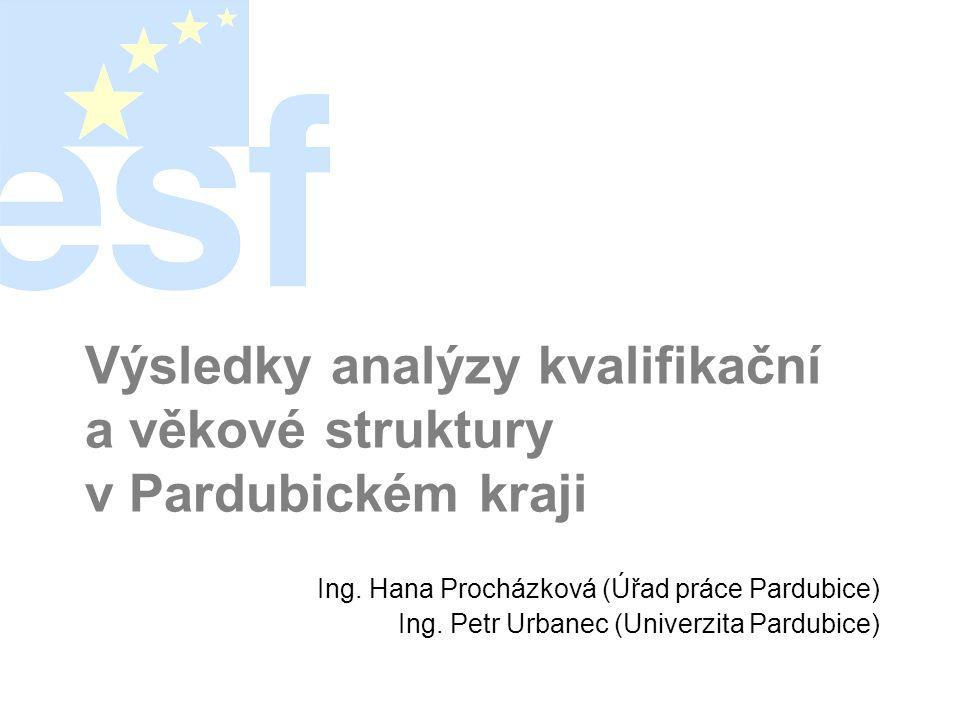Výsledky analýzy kvalifikační a věkové struktury v Pardubickém kraji Ing.