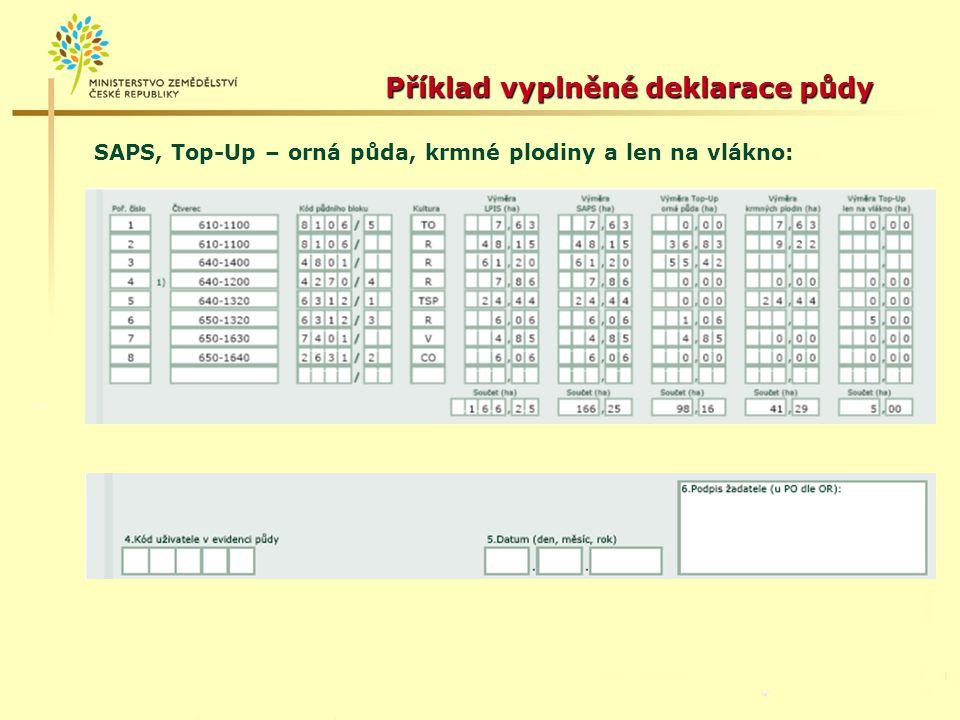 """Příloha č.2 – Deklarace půdy – LFA Kultura - pouze travní porost """"T ."""