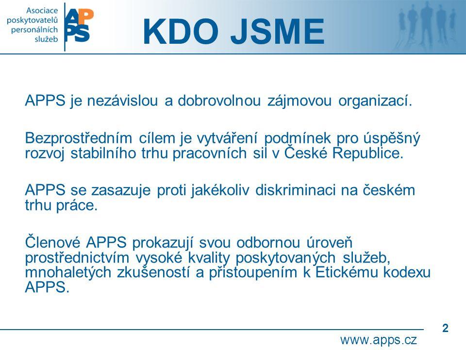 2 KDO JSME APPS je nezávislou a dobrovolnou zájmovou organizací.