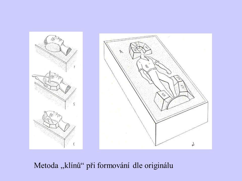 """Metoda """"klínů"""" při formování dle originálu"""