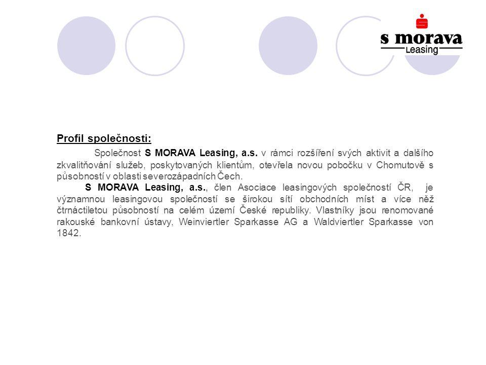 Profil společnosti: Společnost S MORAVA Leasing, a.s.