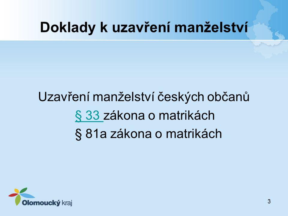 Příjmení žen po rozvodu po uplynutí lhůty 1 měsíce Procházková Nováková změnou ve správním řízení na Nováková za 100,- Kč 14