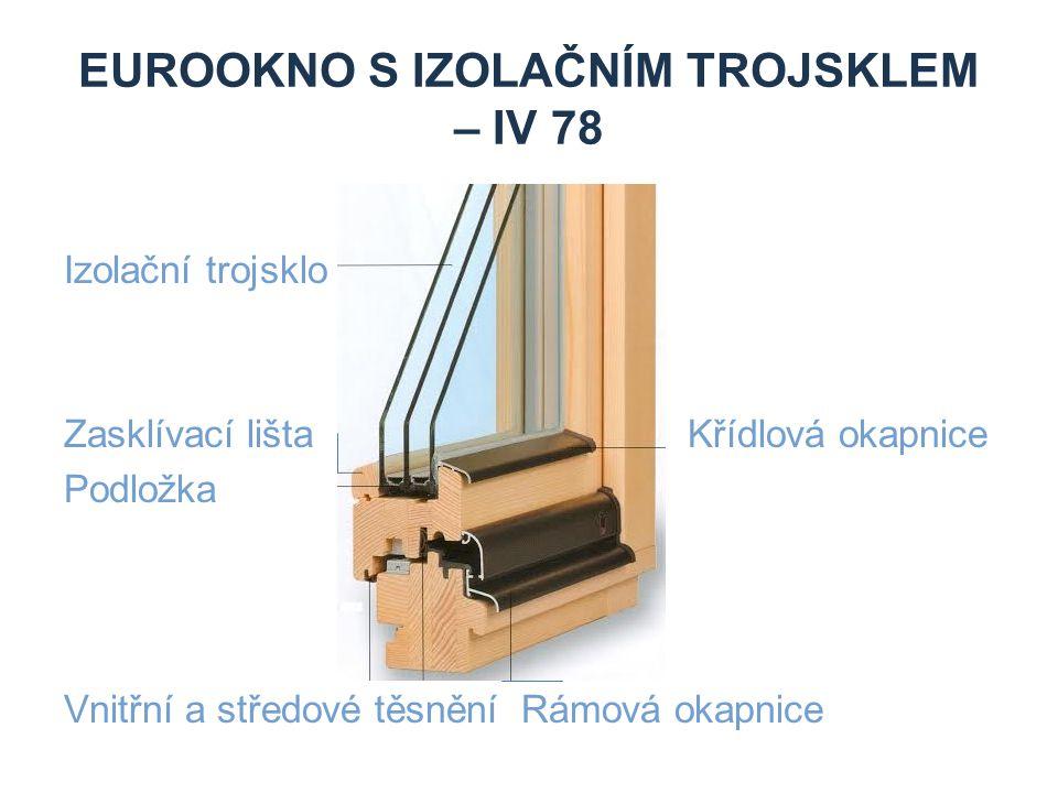 DŘEVOHLINÍKOVÉ EUROOKNOOKNO Izolační trojsklo Hliníkový plášť křídla Hliníkový plášť rámu Vnitřní, středové a venkovní celoobvodové těsnění