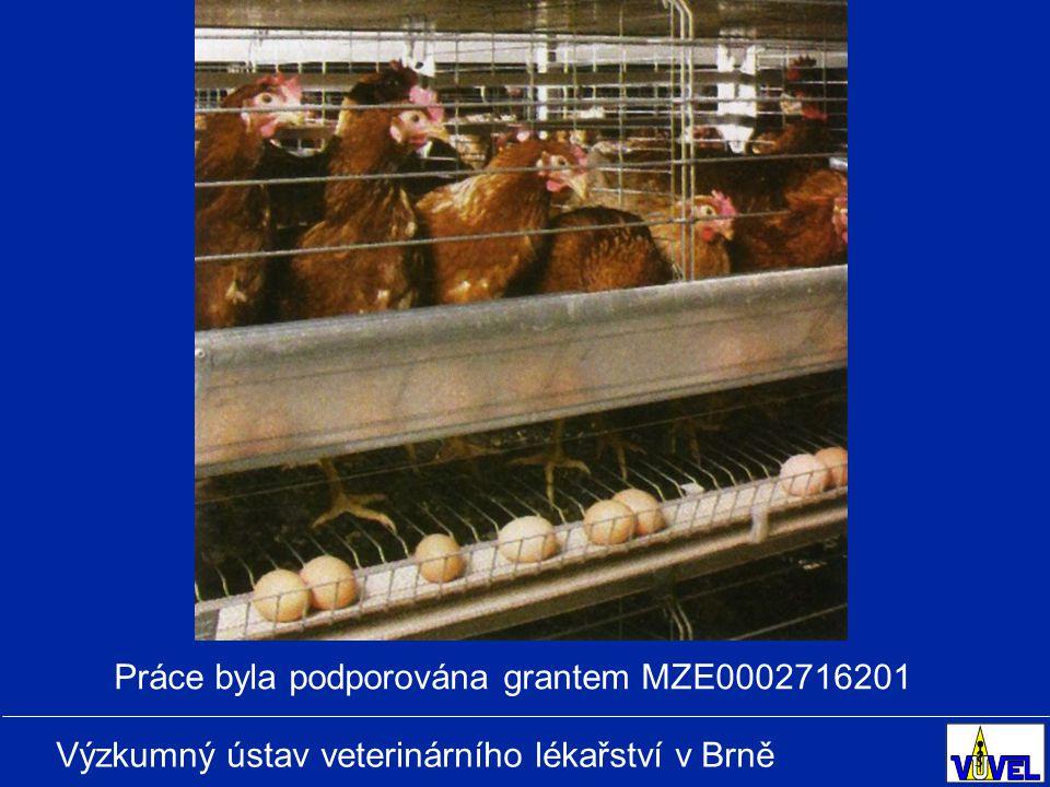 Výzkumný ústav veterinárního lékařství v Brně Práce byla podporována grantem MZE0002716201