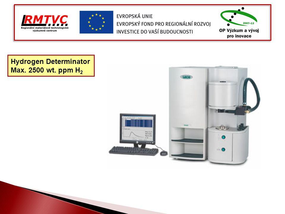 Hydrogen Determinator Max. 2500 wt. ppm H 2