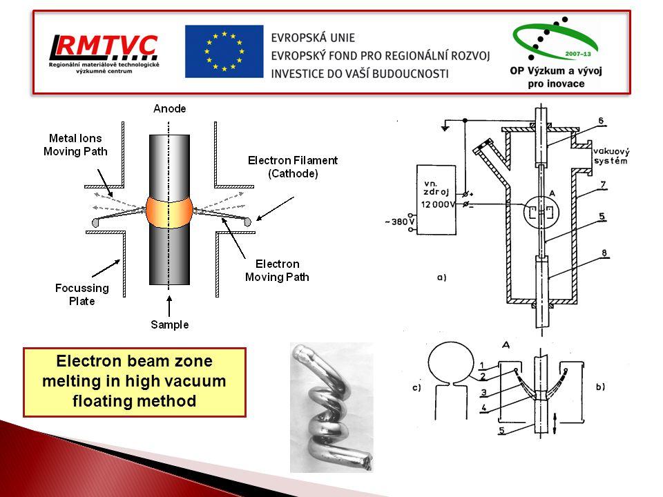 Electron beam zone melting in high vacuum floating method