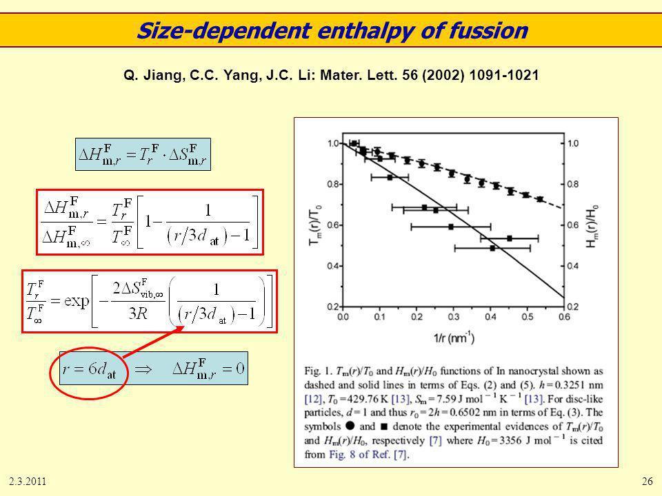2.3.201126 Q. Jiang, C.C. Yang, J.C. Li: Mater.