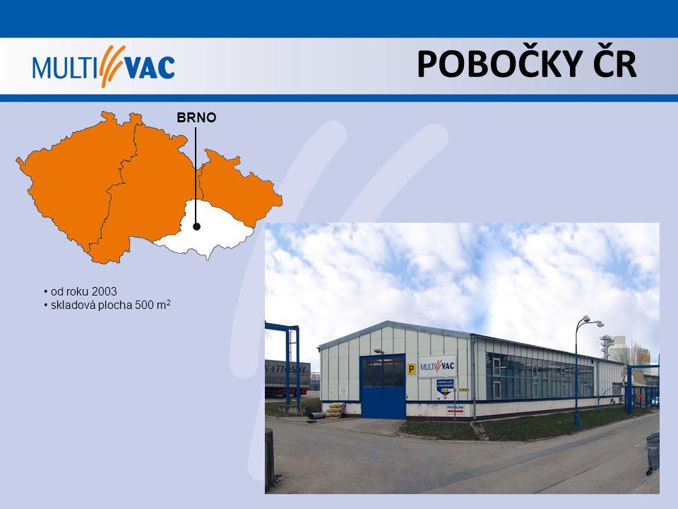POBOČKY ČR BRNO od roku 2003 skladová plocha 500 m 2