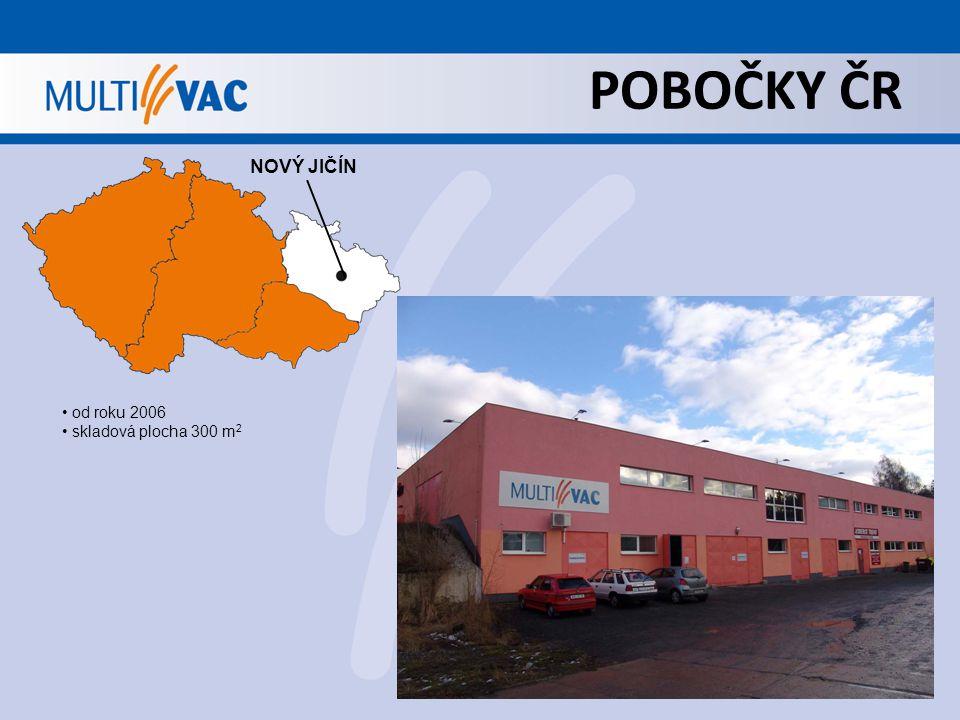 POBOČKY ČR NOVÝ JIČÍN od roku 2006 skladová plocha 300 m 2