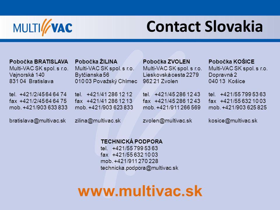 Contact Slovakia Pobočka BRATISLAVA Multi-VAC SK spol.